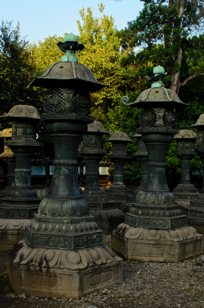 japanese temple: Lanterns at Japanese temple