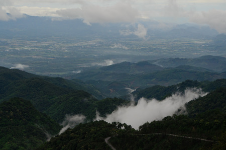 foggy valley of Chiang Mai, Thailand