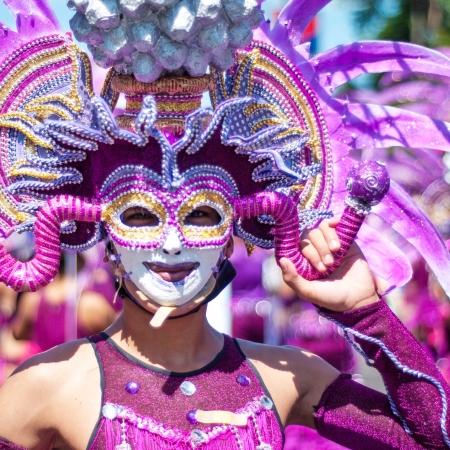 colour: Masskara Festival Stock Photo