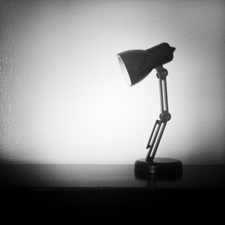 lampshade: Mini lampshade in black and white