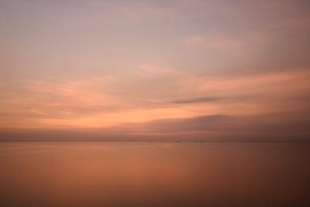 manila: Sunset at Manila Bay, Philippines. Stock Photo