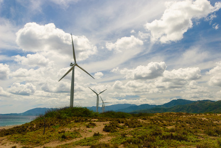 windmills: Windmills as Ilocos Norte Philippines. Stock Photo