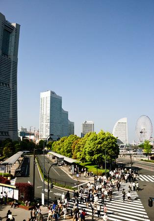 urbanscape: Japan cityscape, Yokohama, Japan.