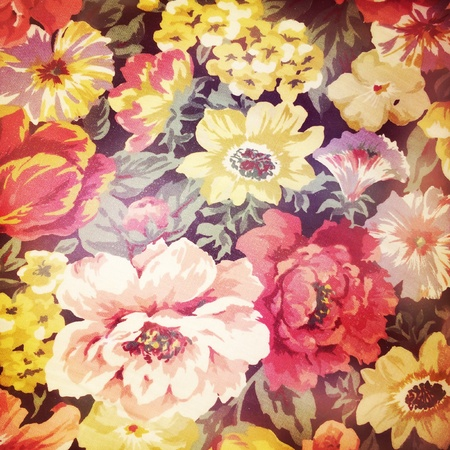 fabric: Floral design print in fabric Stock Photo