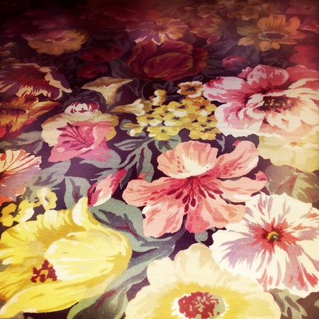 design: Floral design print in fabric Stock Photo