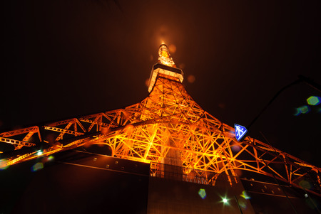 citylight: At the foot oj majestic and breath taking Tokyo Tower, Japan