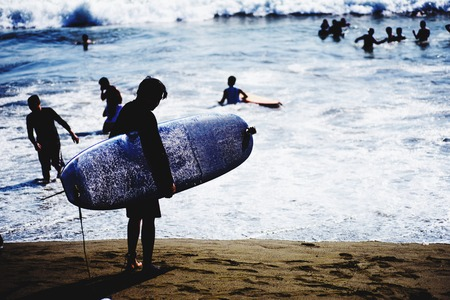 Surfing at Baler, Aurora, Philippines