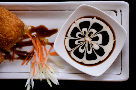 mouth watering: Japanese food served on the table.