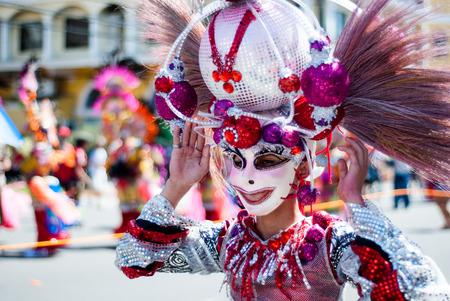 Participant of Masskara Festival street dance parade.