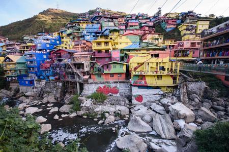 Colorful houses at Stobosa La Trinidad.