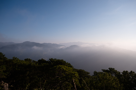 high sierra: Fog over the mountains of Sagada, Mountain Province, Philippines.