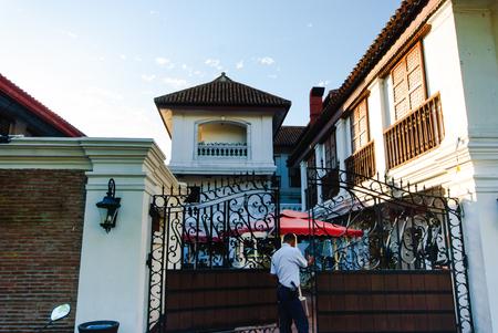 Via storica di Calle Crisologo, Vigan, Ilocos Sur, Filippine.