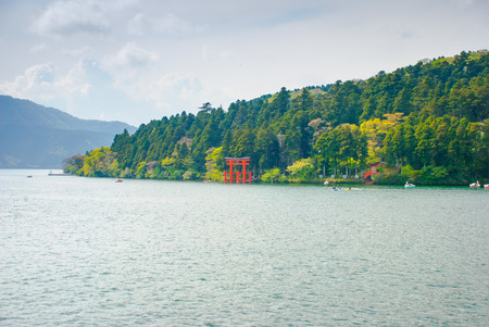 Tori at Hakone, Japan. Stock Photo