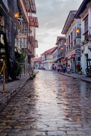 Calle Crisologo, Vigan, Ilocos Sur, Philippines.