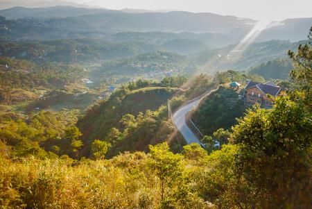 Sunshine over Baguio City. 스톡 콘텐츠
