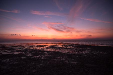 Sunset at Lakawon Beach Resort, Cadiz, Negros Occidental, Phlippines,
