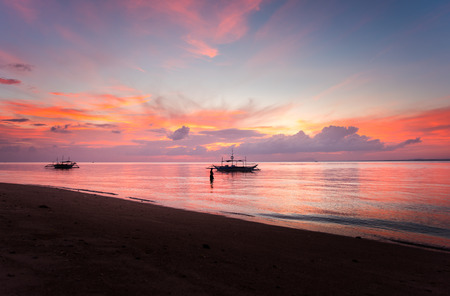 Sunrise at Lakawon Beach Resort, Cadiz, Negros Occidental, Phlippines,