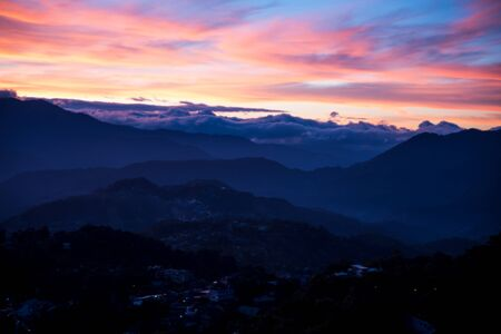 SUnrise at Mines View Park, Baguio, Philippines.