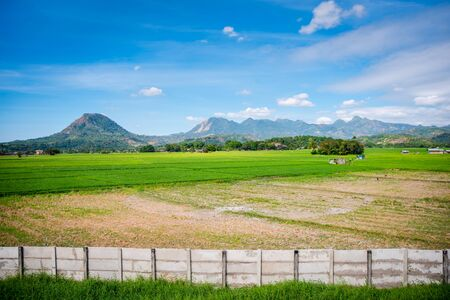 Vast valley of Zambales in the Philippines with its mountains in the bakground .