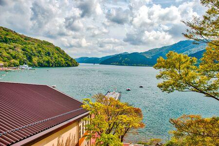 Lake Ashi, Motohakone, Hakone, Ashigarashimo District, Kanagawa, Japan.