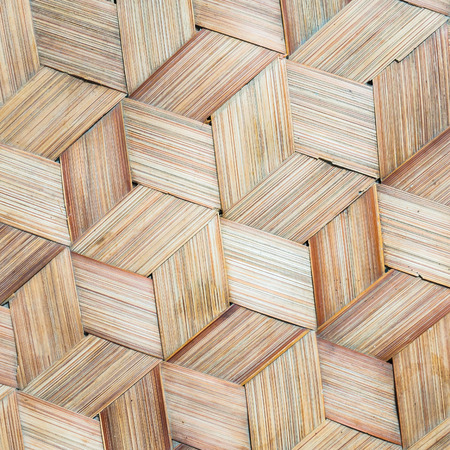 handcraft: Pattern of Thai style bamboo handcraft texture background Stock Photo