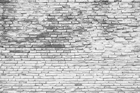 brick facades: Cracked white grunge brick wall background