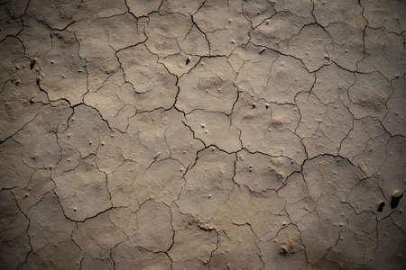 Desertic dry soil with cracks texture top shot