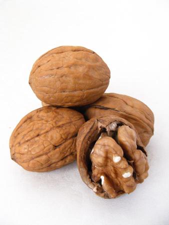 frutas secas: walnuts are an excellent dry fruits Foto de archivo