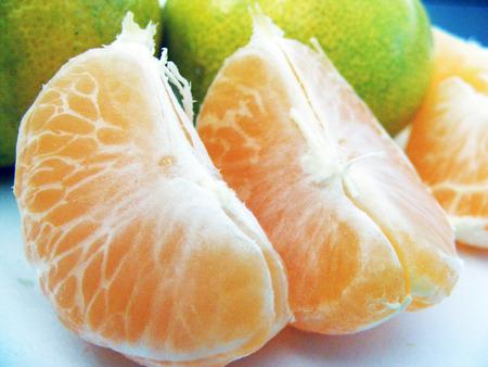 tangerine: ready-to-eat peeled tangerine