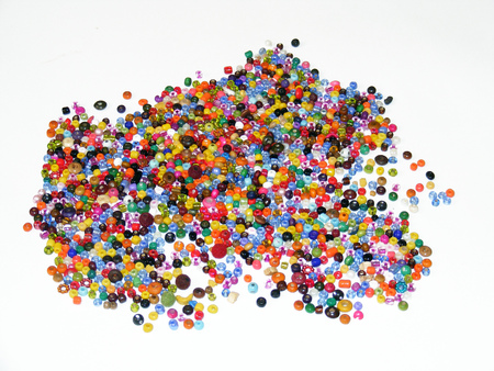 hand colored: hand colored beads image for design shopping site Stock Photo