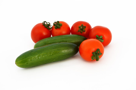 stock photos: tomatoes and cucumbers stock photos