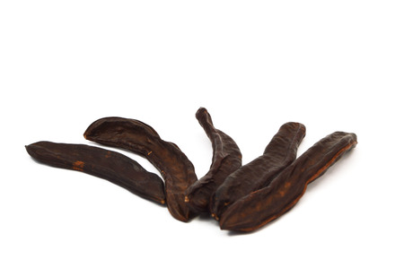 carob fruit Stock Photo