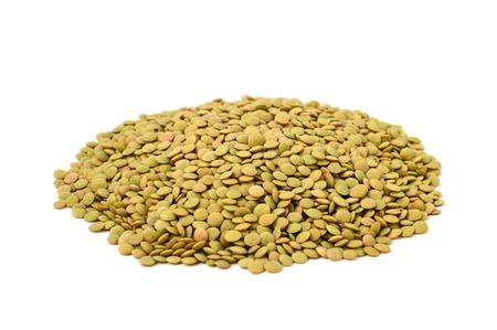 レンズ豆の白背景画像