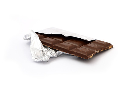 white background with chocolate