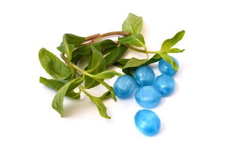 menthol: minty menthol candy Stock Photo