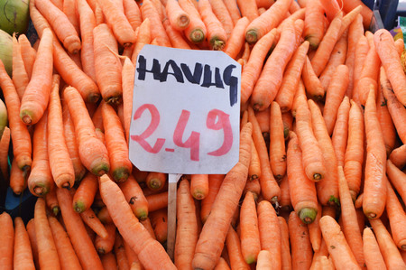 sales carrots labeled pictures