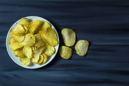 potato chips in dish