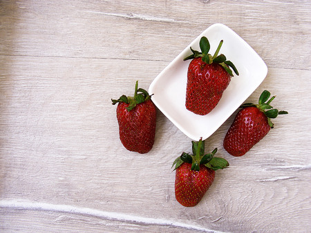 rejected: Strawberry pictures in a plate