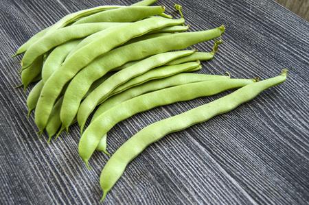 freshly: Green bean sample on white background, green bean pictures Stock Photo