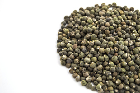 Okra seed in white back fund Stock Photo