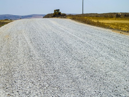It poured gravel to stabilize the road,