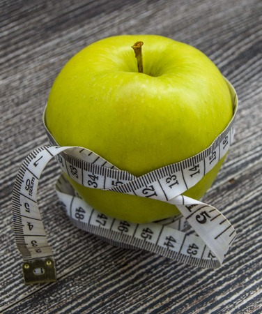 The benefits of eating apples, apples helps to lose weight, Reklamní fotografie