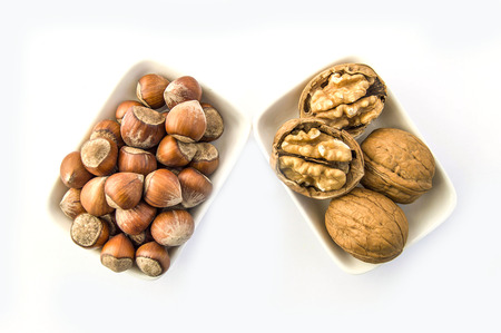 White back fonda walnut and hazelnut stand together