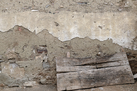 an old mudbrick wall