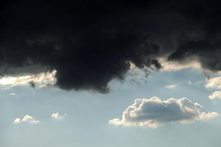 black clouds, darkening clouds before hurricane 写真素材