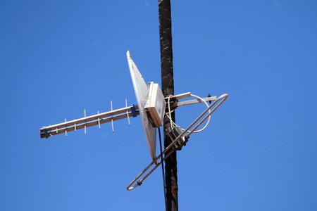 classic old analog TV antenna