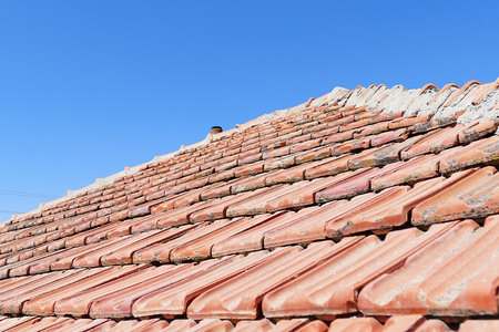 In the house roof tiles