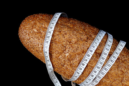 measure and bran bread Banco de Imagens - 115855711