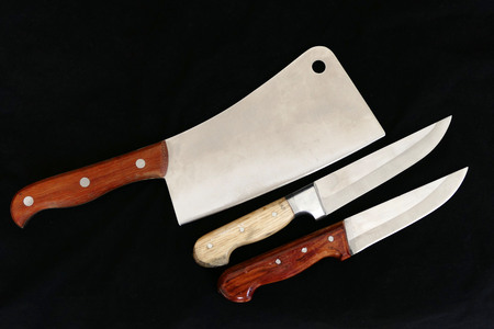 Turkish knife on black ground