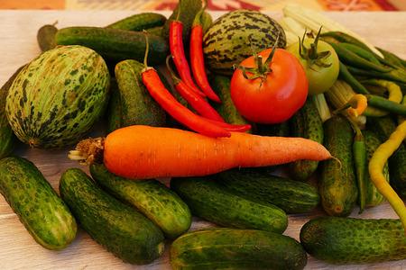 materials required for winter. gherkin, cucumber, melon, pepper, garlic, carrot, vinegar etc ...